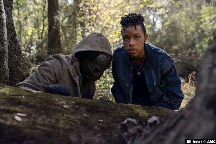 The Walking Dead S10e17 Okea Eme-Akwari and Angel Theory as Elijah and Kelly