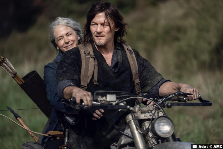 The Walking Dead S10e18 Melissa McBride and Norman Reedus as Carol and Daryl