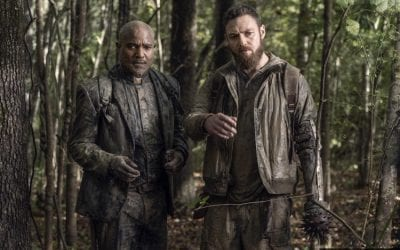 The Walking Dead S10e19 Seth Gilliam and Ross Marquand as Gabriel and Aaron