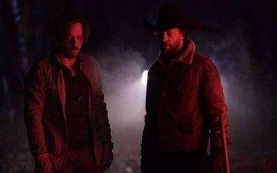 Big Sky S01e12 Michael Raymond-James and Kyle Schmid as Blake and John Wayne Kleinsasser