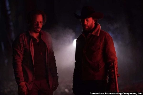 Big Sky S01e12 Michael Raymond-James and Kyle Schmid as Blake and John Wayne Kleinsasser