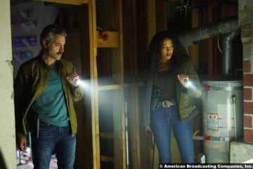 Big Sky S01e13 Omar Metwally and Kylie Bunbury as Mark Lindor and Cassie Dewell