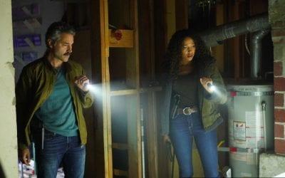 Big Sky S01e13 Omar Metwally and Kylie Bunbury as Mark Lindor and Cassie Dewell