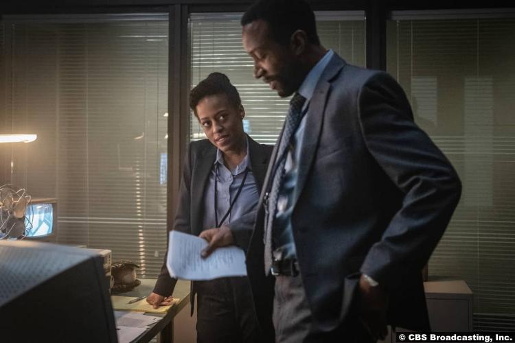 Clarice S01e04 Devyn Tyler and K.C. Collins as Ardelia Mapp and Garrett Haynes