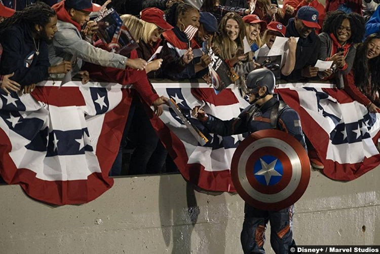 The Falcon and the Winter Soldier S01e02 Wyatt Russell as Captain America