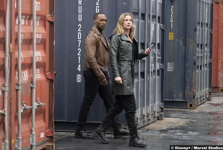 The Falcon and the Winter Soldier S01e03 Anthony Mackie and Emily VanCamp as Sam Wilson and Sarah Carter aka Agent 13