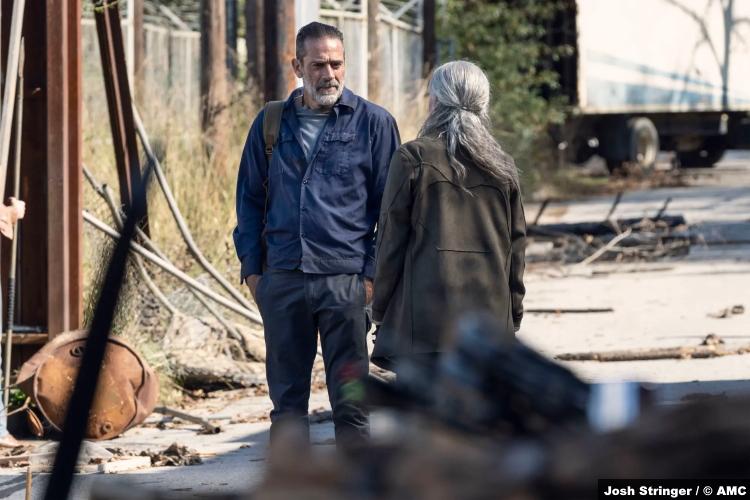 The Walking Dead S10e22 Jeffrey Dean Morgan and Melissa McBride as Negan and Carol