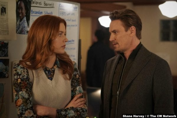 Nancy Drew S02e014: Kennedy McMann and Riley Smith as Nancy and Ryan Hudson