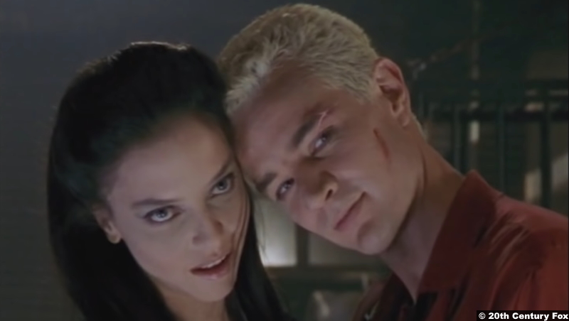 Buffy The Vampire Slayer S02e03: Juliet Landau and James Masters as Drusilla and Spike