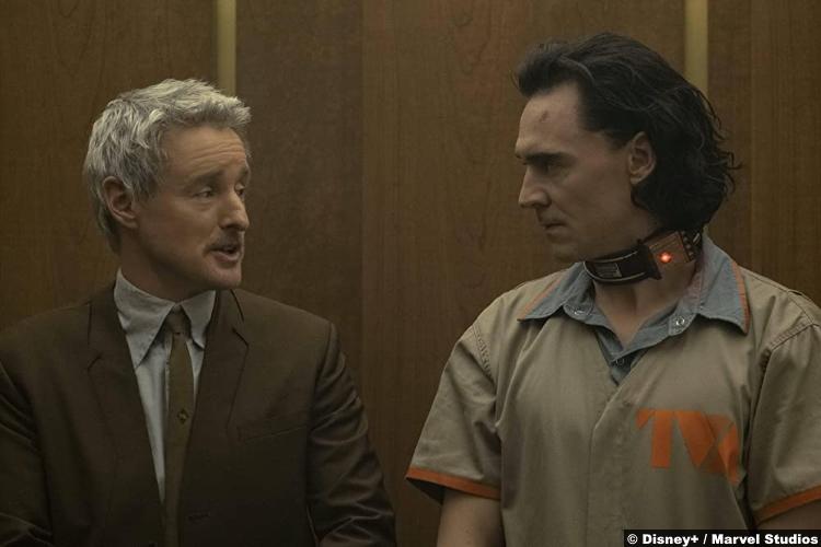 Loki S01e01: Owen Wilson and Tom Hiddleston as Mobius and Loki
