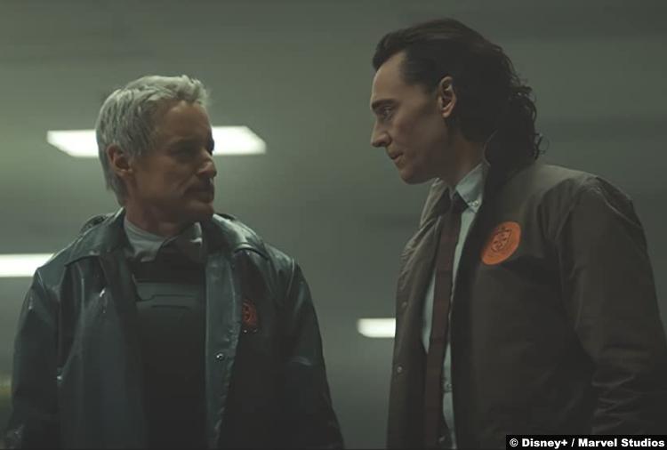 Loki S01e02: Owen Wilson and Tom Hiddleston as Loki and Mobius