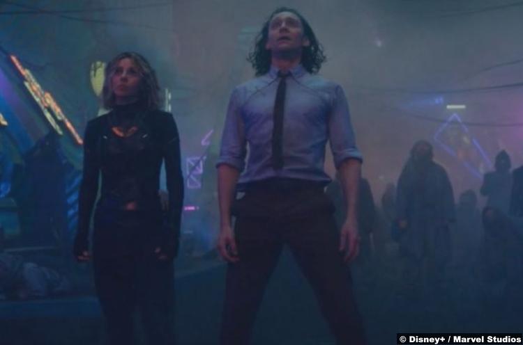 Loki S01e03: Sophia Di Martino and Tom Hiddleston