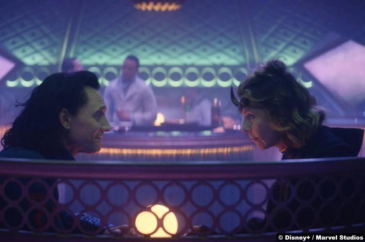 Loki S01e03: Tom Hiddleston and Sophia Di Martino