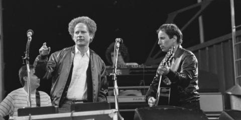 Simon And Garfunkel at Feyenoord Stadium in Rotterdam1982
