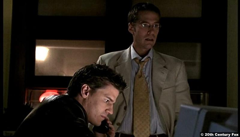 Angel S01e10: David Boreanaz and Alexis Denisof as Angel and Wesley Wyndam-Pryce