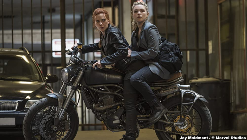 Black Widow: Scarlett Johansson and Florence Pugh as Natasha Romanoff and Yelena Belova
