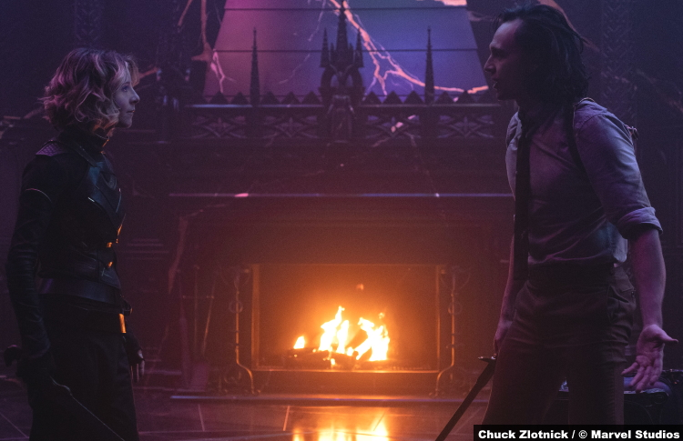 Loki S01e06: Sophia Di Martino and Tom Hiddleston as Sylvie and Loki