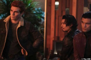 Riverdale S05e11: KJ Apa, Drew Ray Tanner and Charlies Melton as Archie, Fangs and Reggie