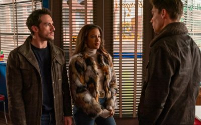 Roswell, New Mexico S03e05: Michael Trevino, Heather Hemmens and Tanner Novlan as Kyle Valenti, Maria DeLuca and Gregory Manes