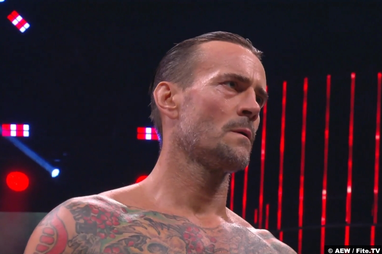 CM Punk at AEW All Out 2021