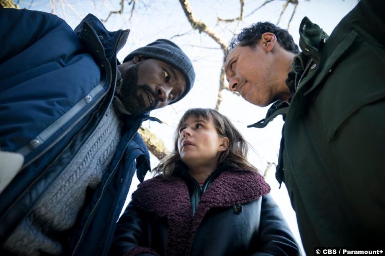 Evil S02e07: Mike Colter, Katja Herbers and Aasif Mandvi as Kristen Bouchard, David Acosta and Ben Shakir