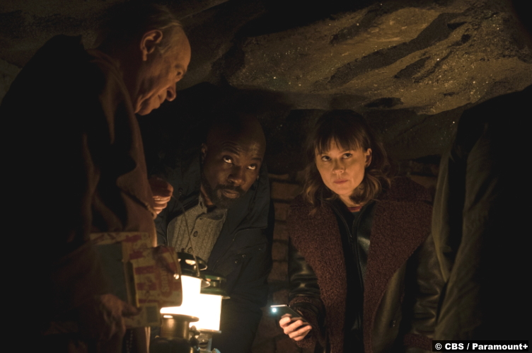 Evil S02e07: Mike Colter and Katja Herbers as David Acosta and Kristen Bouchard