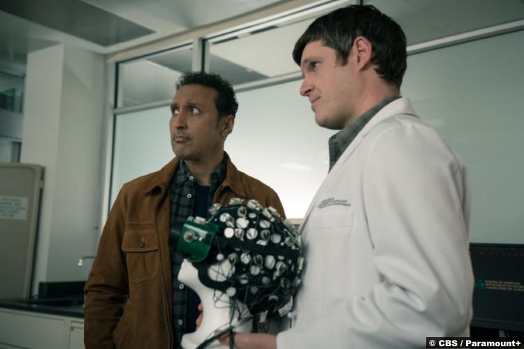 Evil S02e08: Aasif Mandvi and Michael Esper as Ben Shakir and Cal Jebiga