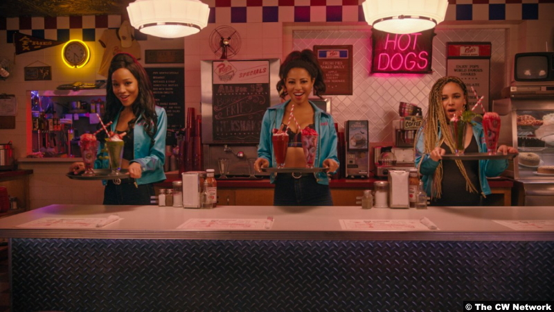 Riverdale S05e15 Erinn Westbrook, Camille Hyde and Vanessa Morgan as Tabitha Tate, Alexandra Cabot and Toni Topaz