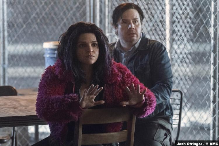 The Walking Dead S11e02: Paola Lázaro and Josh McDermitt as Princess and Eugene