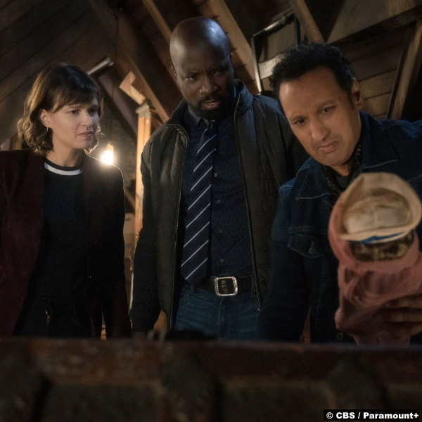 Evil S02e12: Katja Herbers, Mike Colter and Aasif Mandvi as Kristen Bouchard, David Acosta and Ben Shakir