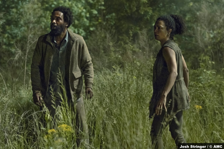 The Walking Dead S11e06: Kevin Carroll and Lauren Ridloff as Virgil and Connie