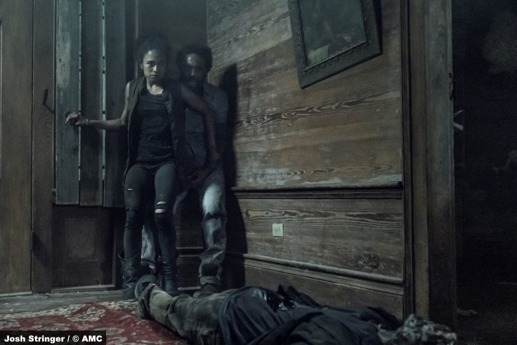 The Walking Dead S11e06: Lauren Ridloff and Kevin Carroll as Connie and Virgil